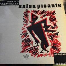 Discos de vinilo: MAYITO FERNANDEZ Y SU SALSA PICANTE (ARRASANDO) LP ESPAÑA (VIN-Q). Lote 89413376