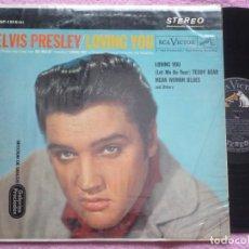 Discos de vinilo: ELVIS PRESLEY,LOVING YOU EDICION USA. Lote 117268820