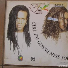 Discos de vinilo: MILLI VANILLI – GIRL I'M GONNA MISS YOU - HANSA 1989 - MAXI - P. Lote 89418844