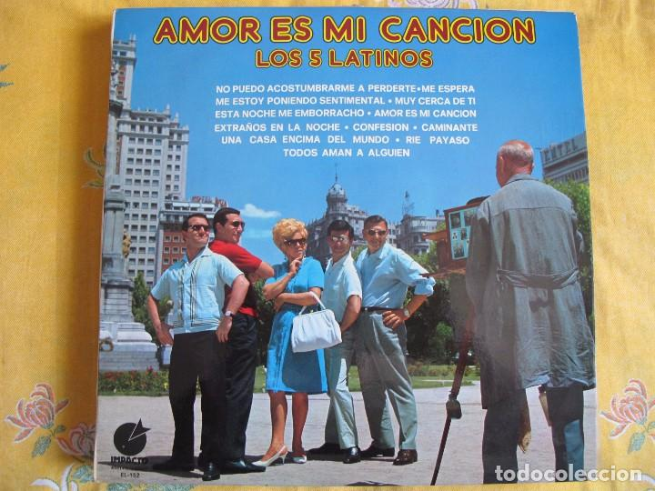 LP - LOS 5 LATINOS - AMOR ES MI CANCION (SPAIN, DISCOS IMPACTO 1975) (Música - Discos - LP Vinilo - Grupos Españoles 50 y 60)
