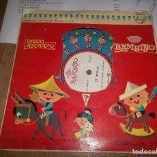 Discos de vinilo: EL FAROLERO, EL PATIO DE MI CASA. BAMBINO, DISCO ANIMADO. ED. PHILIPS, 1961. Lote 89444764