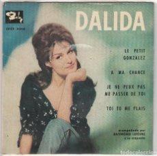 Discos de vinilo: DALIDA / LE PETIT GONZALEZ + 3 (EP 1962) CONSERVA EL TRIANGULO. Lote 89475856