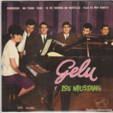 Discos de vinilo: GELU Y LOS MUSTANG / DOMINIQUE + 3 (EP 1964). Lote 89476992