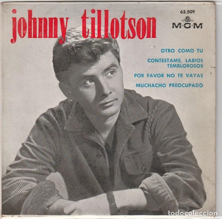 JOHNNY TILLOTSON / OTRO COMO TU + 3 (EP 1964) (Música - Discos de Vinilo - EPs - Pop - Rock Internacional de los 50 y 60)