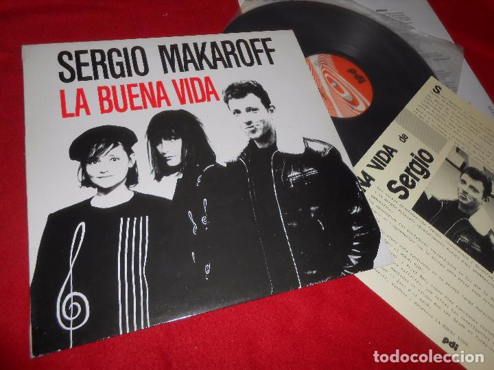 SERGIO MAKAROFF LA BUENA VIDA LP 1987 PDI + HOJA PROMOCIONAL PROMO VINILO NUEVO (Música - Discos - LP Vinilo - Grupos Españoles de los 70 y 80)
