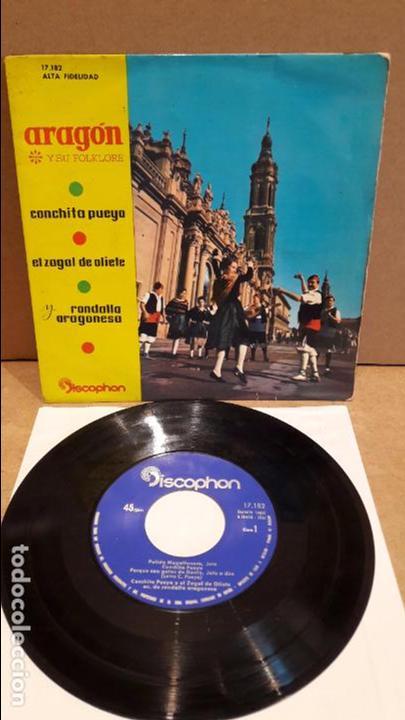 CONCHITA PUEYO / EL ZAGAL DE OLIETE / RONDALLA ARAGONESA. ARAGÓN Y SI FOLKLORE / ***/*** (Música - Discos de Vinilo - EPs - Country y Folk)