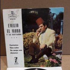 Discos de vinilo: EMILIO EL MORO Y SU GUITARRA. ESPERANZA. EP / MONTILLA - 1962 / MBC. ***/***. Lote 89487216