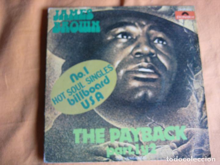 JAMES BROWN SG POLYDOR 1974 THE PAYBACK FUNK SOUL (Música - Discos - Singles Vinilo - Funk, Soul y Black Music)