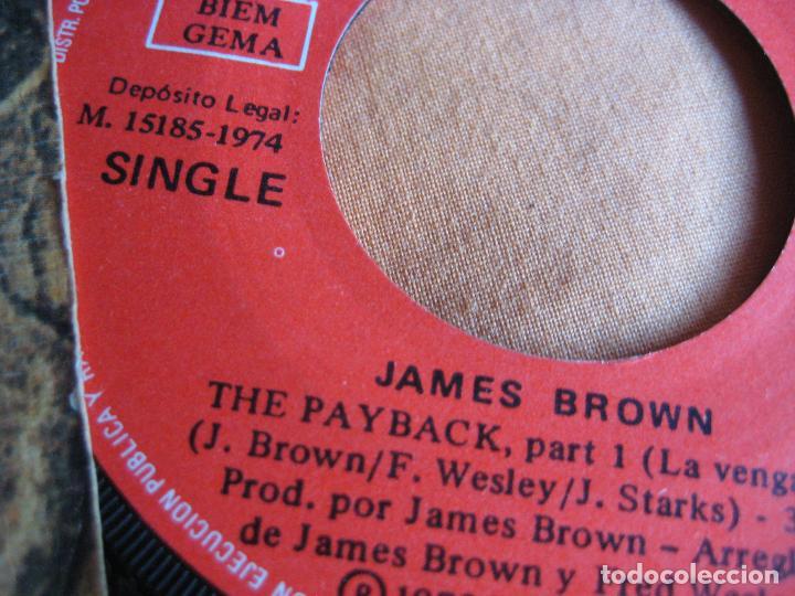 Discos de vinilo: JAMES BROWN Sg POLYDOR 1974 the payback FUNK SOUL - Foto 2 - 89494400
