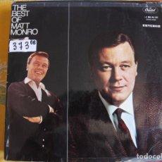 Discos de vinilo: LP - MATT MONRO - THE BEST OF (SPAIN, CAPITOL RECORDS 1969). Lote 89499436