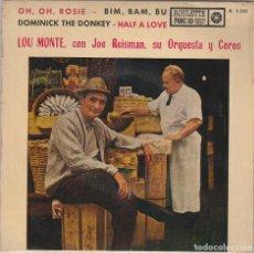 Discos de vinilo: LOU MONTE / HAFL A LOVE + 3 (EP 1961). Lote 89508176