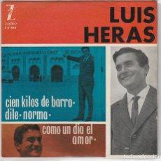 Discos de vinilo: LUIS HERAS / CIEN KILOS DE BARRO + 3 (EP 1963). Lote 89508360