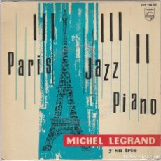Discos de vinilo: MICHEL LEGRAND Y SU TRIO / SOUR LES PONTS DE PARIS / I LOVE PARIS / LA VIE EN ROSE + 1 (EP 1962). Lote 89508616