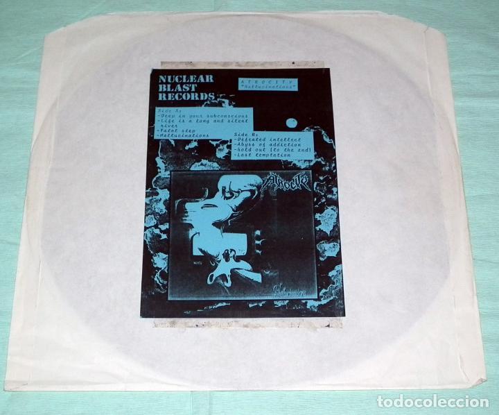 LP ATROCITY - HALLUCINATIONS TEST PRESSING 1991 (Música - Discos - LP Vinilo - Heavy - Metal)