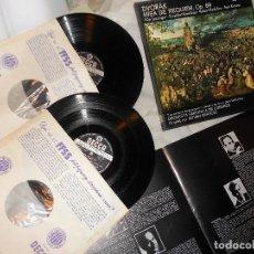 ESTUCHE 2 LP MISA RÉQUIEM OP. 89 DVORÁK, 'FULL STÉREO' DECCA 1968, SINFÓNICA LONDRES, LORENGAR