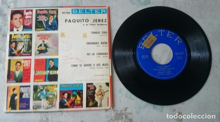 Discos de vinilo: Paquito Jerez y su ritmo moderno: Tómalo todo + 3 (Belter 1963) - Foto 2 - 89531976