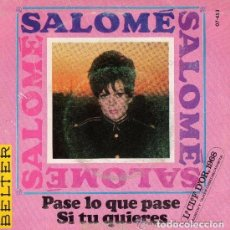 Discos de vinilo: SALOME, PASE LO QUE PASE FESTIVAL DÒR CHECOSLOVAQUIA, SINGLE BELTER 1968. Lote 89544764