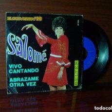 Discos de vinilo: SALOME - COM EL VENT / LES TEVES MANS- SINGLE BELTER 1967- FESTIVAL DE LA CANCION MEDITERRANEA. Lote 89555388