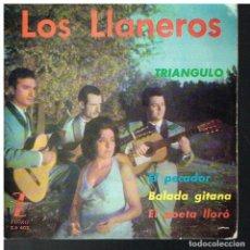 Discos de vinilo: LOS LLANEROS - BALADA GITANA / TRIÁNGULO / EL PECADOR / EL POETA LLORÓ - EP 1963. Lote 89557228