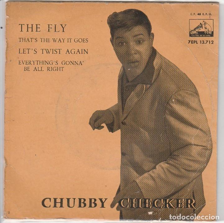 CHUBBY CHECKER / THE FLY + 3 (EP 1962) (Música - Discos de Vinilo - EPs - Pop - Rock Extranjero de los 50 y 60)