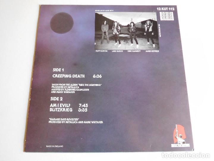 Discos de vinilo: Metallica. EP. Creeping death. Edición inglesa. MFN 1984 - Foto 2 - 89589716
