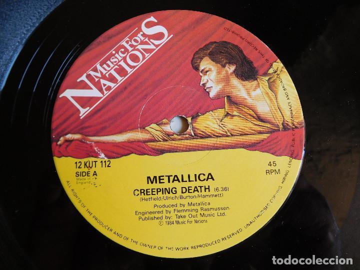 Discos de vinilo: Metallica. EP. Creeping death. Edición inglesa. MFN 1984 - Foto 4 - 89589716