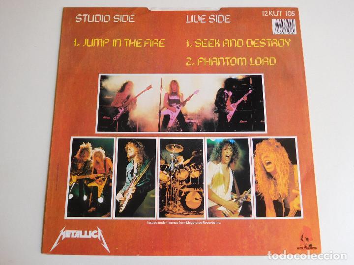 Discos de vinilo: Metallica. Maxi single. Jump in the fire. Edición inglesa. MFN 1983 - Foto 2 - 89590304