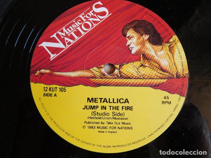 Discos de vinilo: Metallica. Maxi single. Jump in the fire. Edición inglesa. MFN 1983 - Foto 4 - 89590304