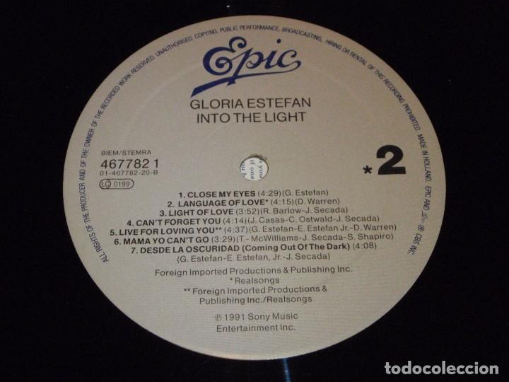 Discos de vinilo: GLORIA ESTEFAN - INTO THE LIGHT 1991 - HOLANDA LP EPIC - Foto 6 - 89594068