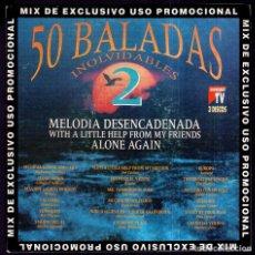 Discos de vinilo: BALADAS INOLVIDABLES 2 - PROMO - SPAIN SINGLE DIVUCSA 1992 - PROMO UNA SOLA CARA / SINGLE SIDED. Lote 89603420