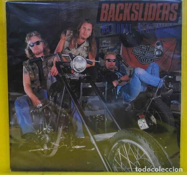 BACKSLIDERS. NATIONAL NIGHTMARE. VINILO LP 1987. MEGAMANIA MUSIC. MADE IN ENGLAND (Música - Discos - LP Vinilo - Heavy - Metal)