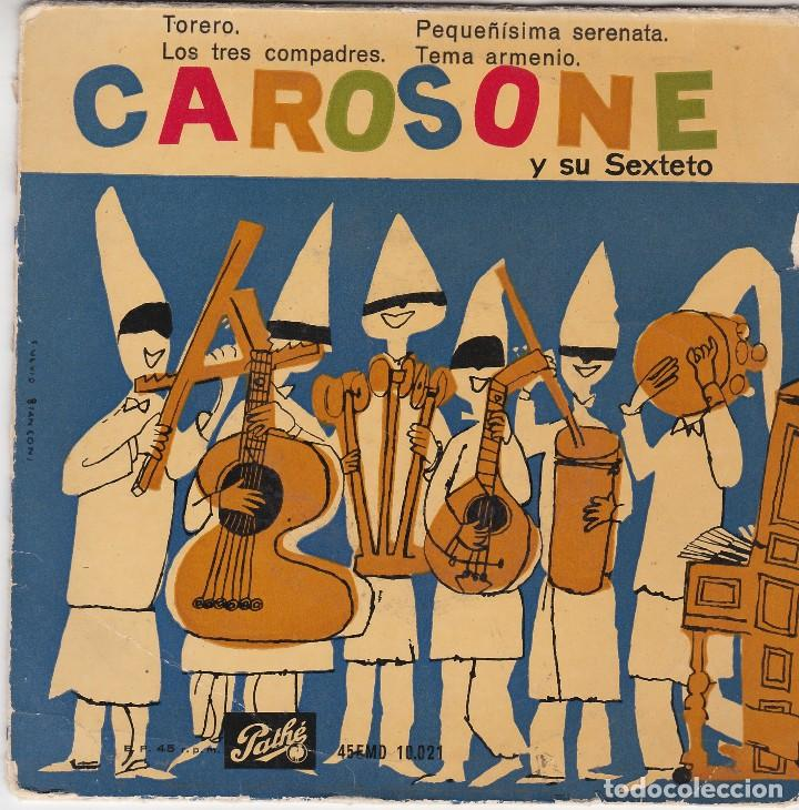 SINGLE RENATO CAROSONE. TORERO. 1958. DISCO PROBADO Y BIEN (Música - Discos - Singles Vinilo - Canción Francesa e Italiana)