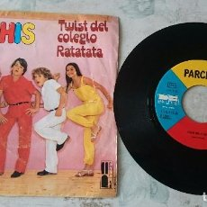 Discos de vinilo: PARCHÍS: TWIST DEL COLEGIO / RATATATA (BELTER 1980). Lote 89623156