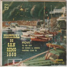 Discos de vinilo: FESTIVAL DE SAN REMO 1959 / ARTURO TESTA / PIOVE + 3 (EP 1959). Lote 89623892