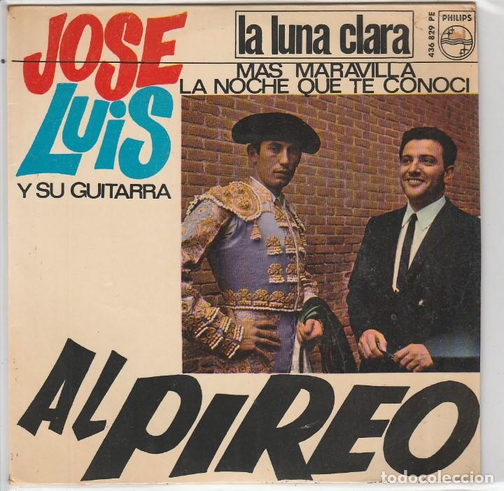 JOSE LUIS Y SU GUITARRA / AL PIREO + 3 (EP 1966) (Música - Discos de Vinilo - EPs - Solistas Españoles de los 50 y 60)