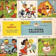 Discos de vinilo: EP- CUENTOS INFANTILES LUZ BERMEJO DISCOS LA CALESITA 40402 ARGENTINA 195????. Lote 89658452
