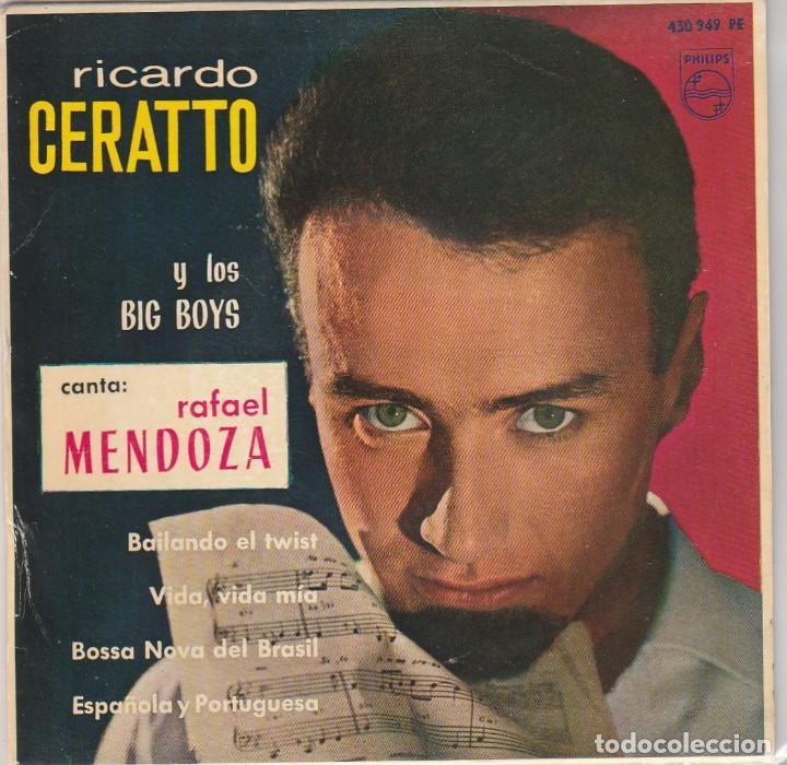 RICARDO CERATTO Y LOS BIG BOYS / BAILANDO TWIST + 3 (EP 1963) (Música - Discos de Vinilo - EPs - Grupos Españoles 50 y 60)