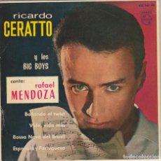Discos de vinilo: RICARDO CERATTO Y LOS BIG BOYS / BAILANDO TWIST + 3 (EP 1963). Lote 89665712