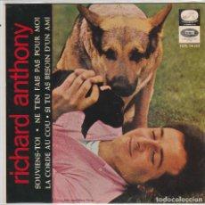 Discos de vinilo: RICHARD ANTHONY / SOUVIENS-TOI + 3 (EP 1964). Lote 89665976