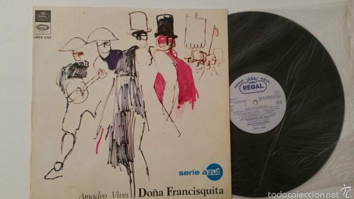 Discos de vinilo: DOÑA FRANCISQUITA - Amadeo Vives - Dicho LP vinilo - Foto 2 - 89667795
