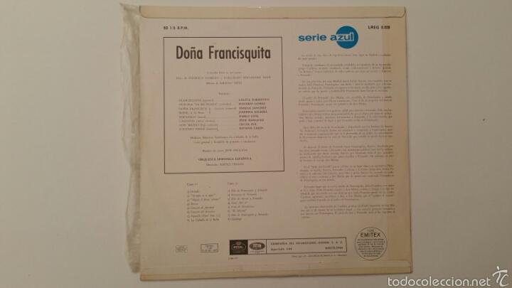Discos de vinilo: DOÑA FRANCISQUITA - Amadeo Vives - Dicho LP vinilo - Foto 3 - 89667795