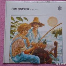 Discos de vinilo: GRANDES RELATOS JUVENILES,TOM SAWYER VOL.10 DEL 80. Lote 115264311