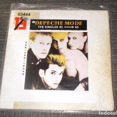 Discos de vinilo: DEPECHE MODE - THE SINGLES 81-85 - MUTE RECORDS - SPAIN - 1983 - DOBLE PORTADA - IBL -. Lote 89710924