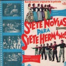 Disques de vinyle: SIETE NOVIAS PARA SIETE HERMANOS - LAMENTO / GALANTEOS / PRIMAVERA....EP HISPAVOX DE 1960 RF-2601, . Lote 89717112