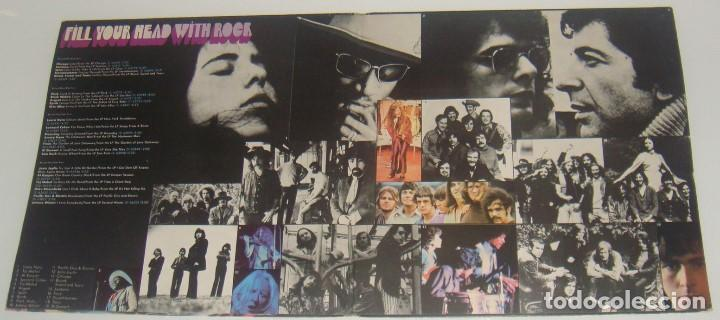 2LP- FILL YOUR HEAD WITH ROCK - MADE IN UK 1970 - JANIS  JOPLIN,SANTANA,BYRDS,MOONDOG,SPIRIT,ARGENT