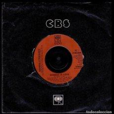 Discos de vinilo: BARBRA STREISAND - UK SINGLE CBS 1980 - WOMAN IN LOVE / RUN WILD - SINGLE 45 RPM. Lote 89744880