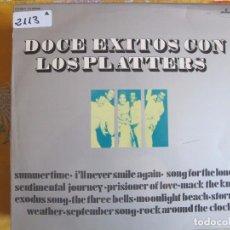 Discos de vinilo: LP - THE PLATTERS - DOCE EXITOS CON LOS PLATTERS (SPAIN, MERCURY RECORDS 1972). Lote 89757504