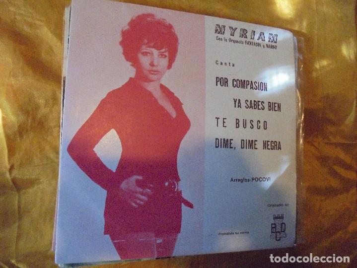 MYRIAM CON LA ORQUESTA FANTASIA Y NARBO. POR COMPASION + 3. EP. PROMOCIONAL. BCD 1971.IMPECABL (Música - Discos de Vinilo - EPs - Solistas Españoles de los 70 a la actualidad)