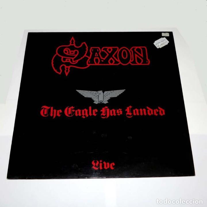 LP. DISCO DE VINILO. SAXON - THE EAGLE HAS LANDED. 1982. HEAVY METAL (Música - Discos - LP Vinilo - Heavy - Metal)