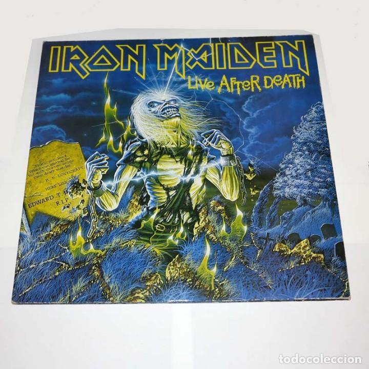 DLP. DISCO DE VINILO. IRON MAIDEN - LIVE AFTER DEATH. 1988. HEAVY METAL (Música - Discos - LP Vinilo - Heavy - Metal)